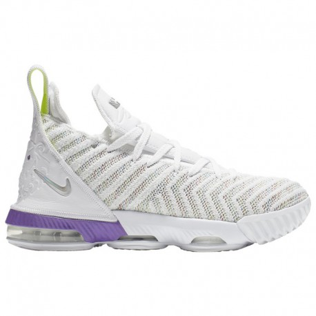 Nike Lebron 16 White Multi Bright Crimson Nike LeBron XVI - Boys' Grade School James, Lebron | White/Multi Color/Bright Crimson