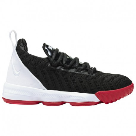 Nike Lebron James 8 Nike LeBron XVI - Boys' Preschool James, Lebron | Black/White/University Red