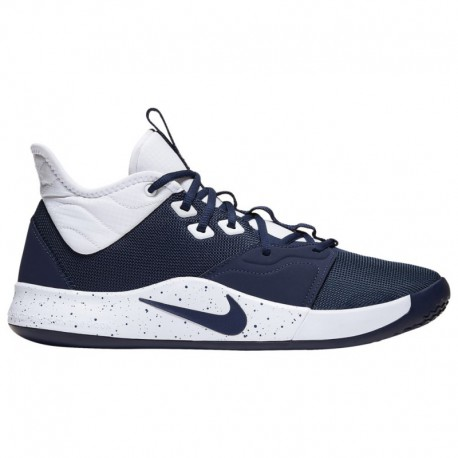 Nike PG 3 White Gold Navy Nike PG 3 - Men's George, Paul | Midnight Navy/White