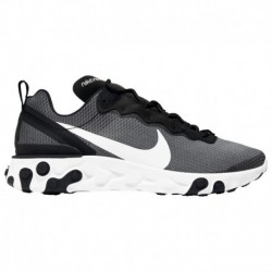 Nike React Element 55 Men's White Nike React Element 55 - Men's Black/White | Se