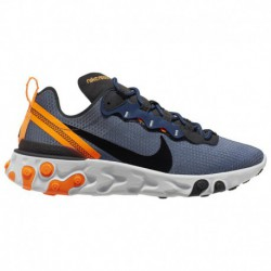 Nike React Element Navy Nike React Element 55 - Men's Midnight Navy/Black/Total Orange | Se