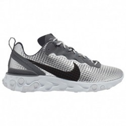 Nike React Element Pure Platinum Nike React Element 55 - Men's Metallic Silver/Black/Pure Platinum | Premium