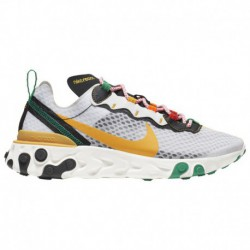 Gold Nike React Element 55 Nike React Element 55 - Men's White/University Gold/Black/Lucid Green