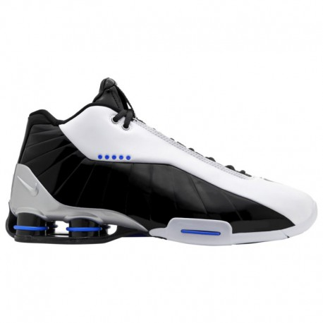 Nike Shox Bb4 White Black Nike Shox Bb4 - Men's White/Black/Racer Blue/Metallic Silver