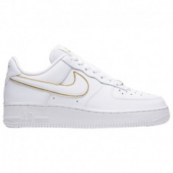 Nike Air Force 1 07 Essential White Nike Air Force 1 '07 Low - Women's White/White/Metallic Gold | Essential / Glam Dunk Pack