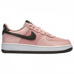 Nike Air Force Valentine's Day Nike Air Force 1 Low - Girls' Preschool Bleached Coral/Black/white | LV8 - Valentine's Day