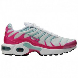 Nike Air Max Plus Womens Teal Nike Air Max Plus - Girls' Grade School White/Laser Fuchsia/Tropical Twist/Teal Tint