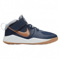 Nike Team Hustle Quick Boys Nike Hustle D 9 - Boys' Preschool Midnight Navy/Met Copper/Wolf Grey