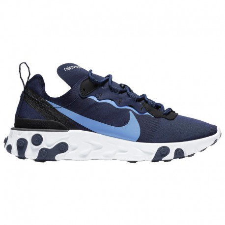 Nike React Element 55 Navy Nike React Element 55 - Men's Midnight Navy/Royal Pulse/White/Black