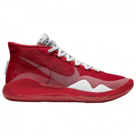 Nike Zoom Red And White Nike Zoom Kd12 - Men's Durant, Kevin   University Red/White