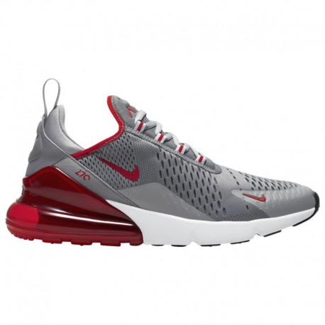 Nike Air Max 270 Flyknit Moon Particle Nike Air Max 270 - Men's Particle Grey/University Red/White