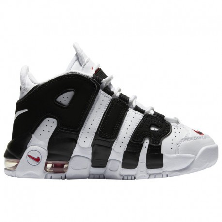 Nike Air More Uptempo Red White Black Nike Air More Uptempo - Boys' Preschool White/Black/Red