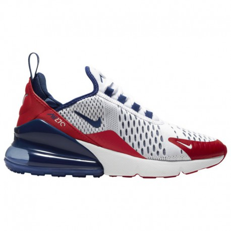 Nike Air Max 270 Royal Blue And White Nike Air Max 270 - Boys' Grade School White/Deep Royal/University Red