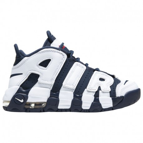 Supreme X Nike Air More Uptempo Metallic Gold Nike Air More Uptempo - Boys' Preschool White/Midnight Navy/Metallic Gold