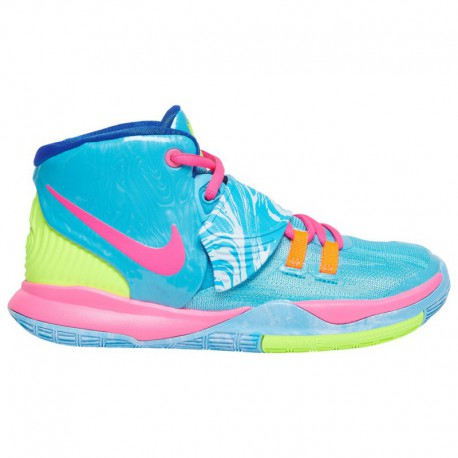 Nike Kyrie Atomic Pink Nike Kyrie 6 - Boys' Preschool Irving, Kyrie | Baltic Blue/Hyper Pink/Hyper Royal | Pool Party