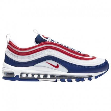 Nike Air Max 97 White University Red Multicolor Nike Air Max '97 - Men's White/University Red/Deep Royal