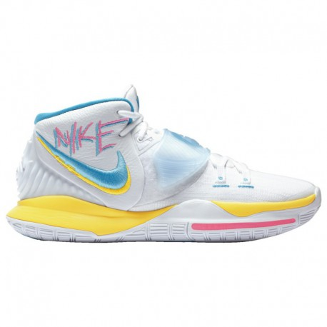 Kyrie Irving Shoes For Sale Nike Kyrie 6 - Men's Irving, Kyrie | White/Opti Yellow/Blue Fury
