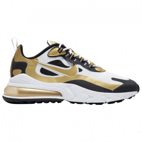 Nike Air Max 270 Black White Gold Nike Air Max 270 React - Men's White/Metallic Gold/Black