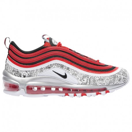 White Red Blue Nike Air Max Nike Air Max 97 - Boys' Grade School Red/White/Blue