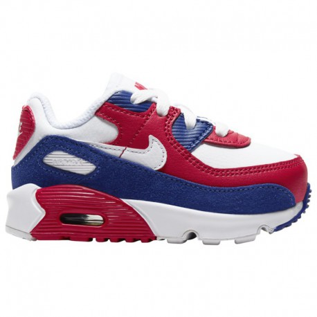 Nike Air Max 1 Anniversary White University Red Nike Air Max 90 - Boys' Toddler White/Deep Royal/University Red
