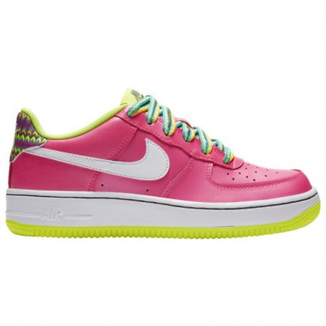 Nike Air Force 1 Low Off White Volt Nike Air Force 1 Low - Boys' Grade School Pink Blast/White/Volt