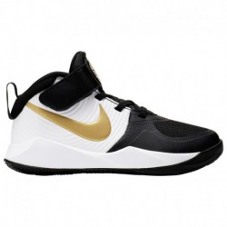 Nike Team Hustle Gold Nike Hustle D 9 - Boys' Preschool Black/Met Gold/White
