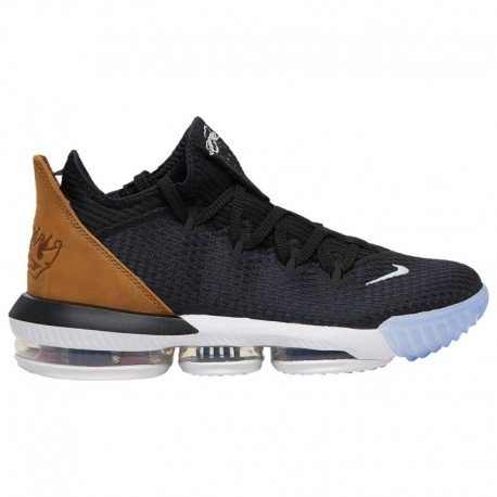Nike Lebron 16 Low Black Gold Wheat Nike LeBron 16 Low - Men's James, Lebron | Black/Gold/Wheat