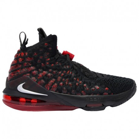 Nike Lebron James Gang Nike LeBron 17 - Boys' Grade School James, Lebron | Black/White/University Red
