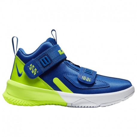 Nike Lebron 10 Volt Nike LeBron Soldier XIII - Boys' Preschool James, Lebron | Game Royal/Volt/Volt